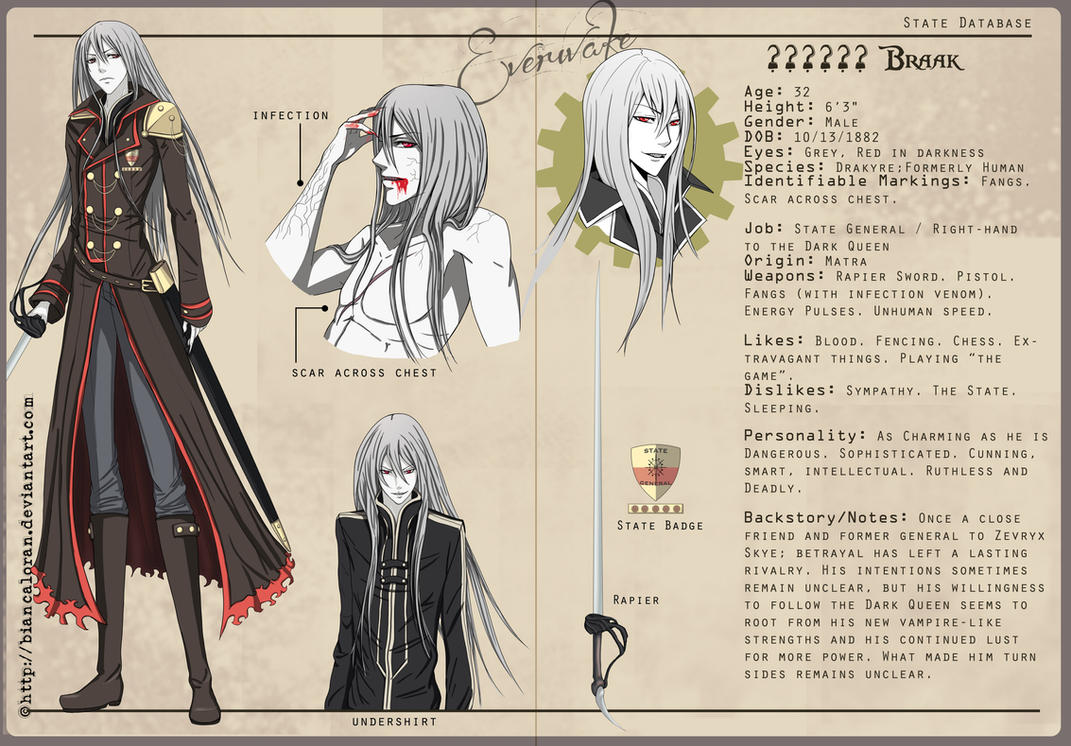 General Braak - Character Sheet by biancaloran
