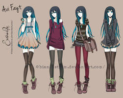 Avi's outfits by biancaloran