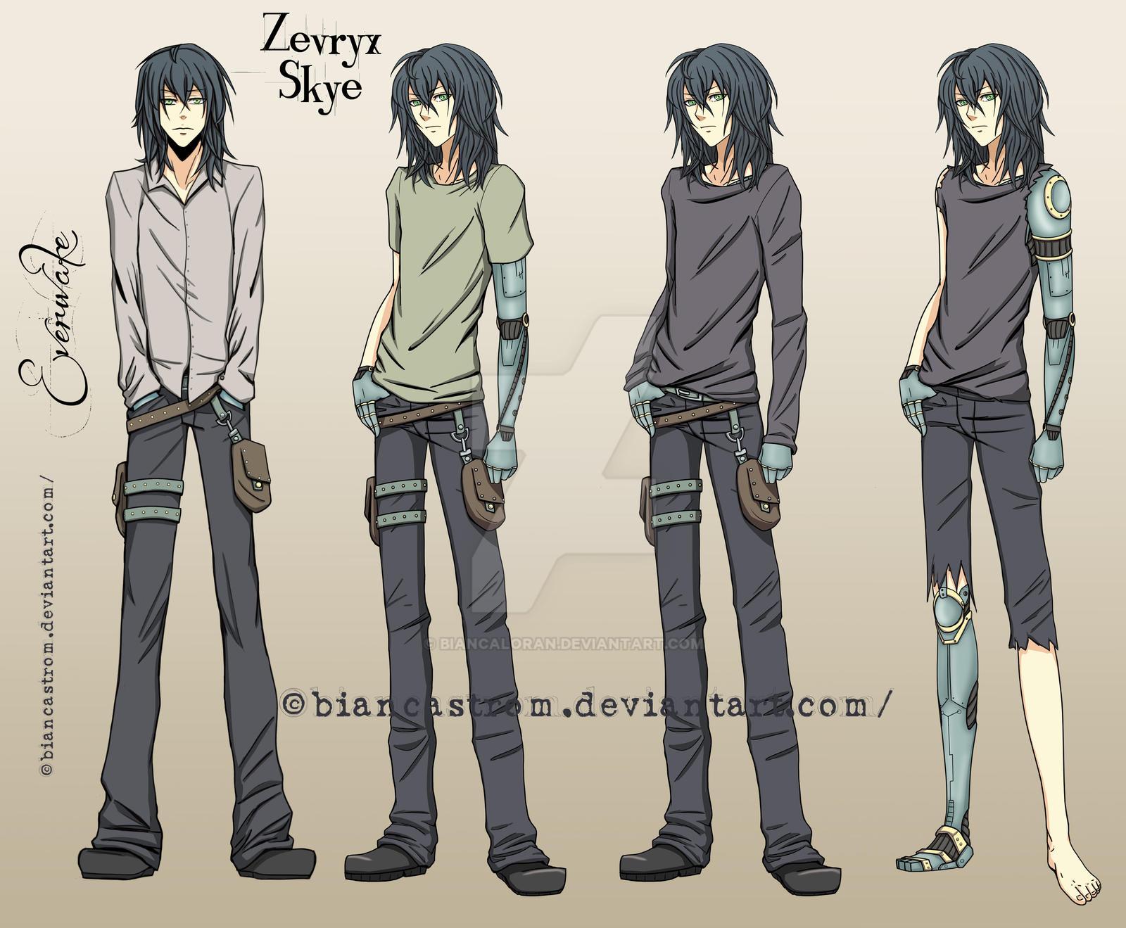 Zevryx Skye's outfits - Everwake by biancaloran