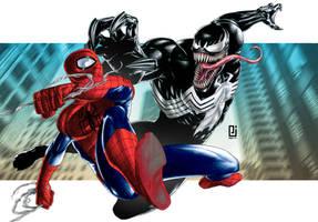 Spider-Man vs. Venom by PeejayCatacutan