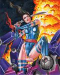 Psylocke Marvel Universe 2014 AP Sketch Card