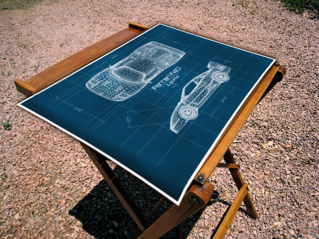 Ferrari f40 blueprint by merdoks on deviantart ferrari f40 blueprint by merdoks malvernweather Gallery