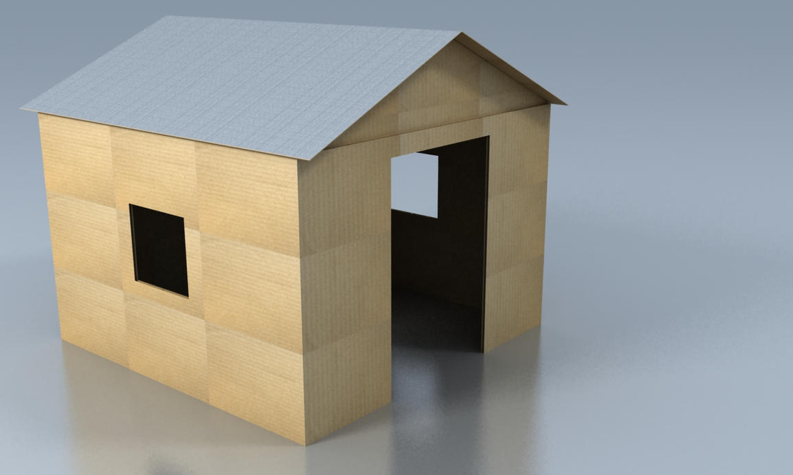 how to make sparrow house with cardboard