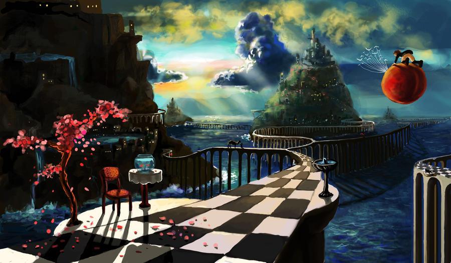 The great bridge by Elena-Ciolacu