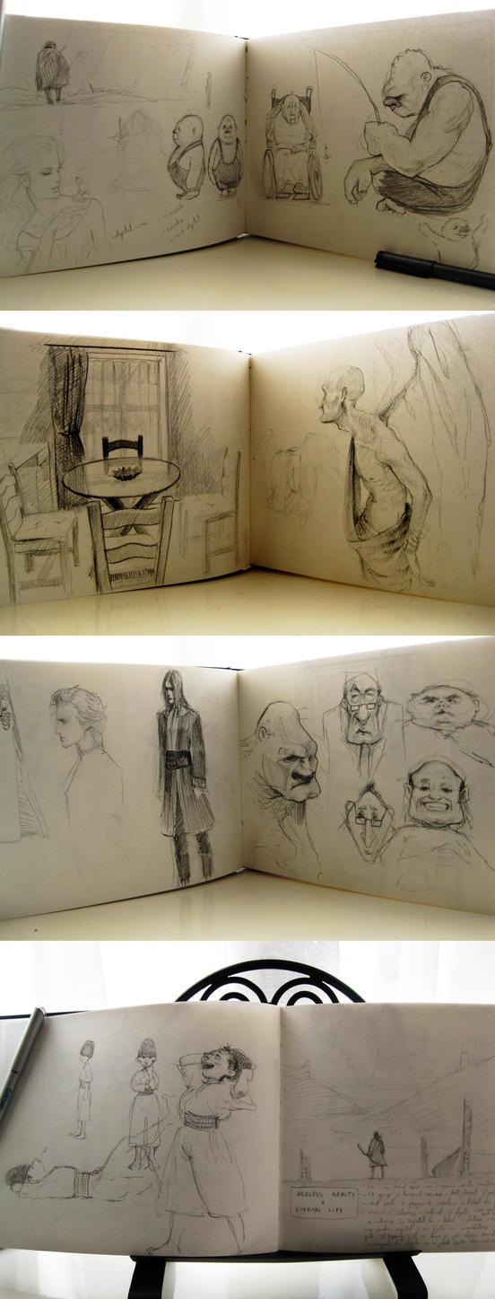 Morning Sketches 2 by Elena-Ciolacu