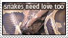 Snakes Need Love Too by i-stamp