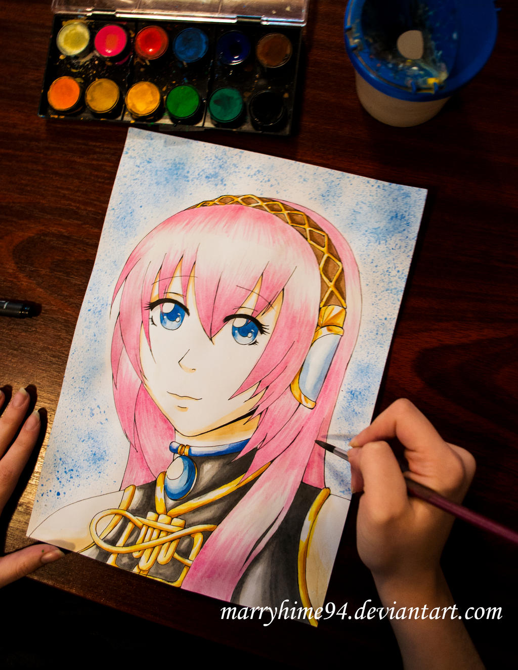 Megurine Luka Watercolors by Marryhime94