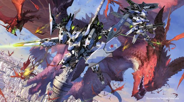 Fierce battle!! Tokyo Sky Tree by TakayamaToshiaki