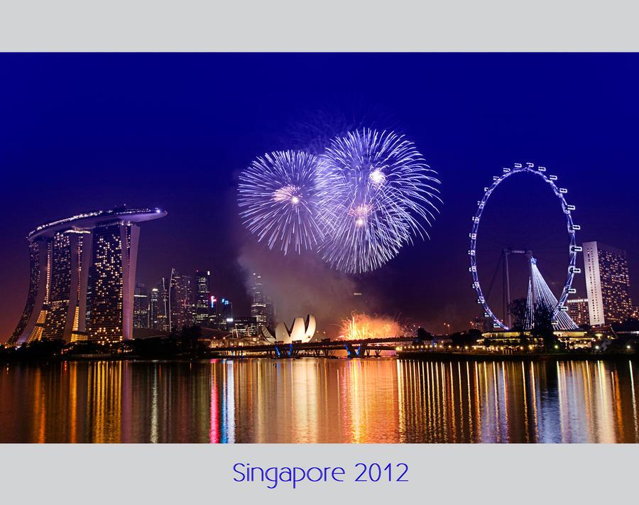 Singapore Fireworks by Pandowo014