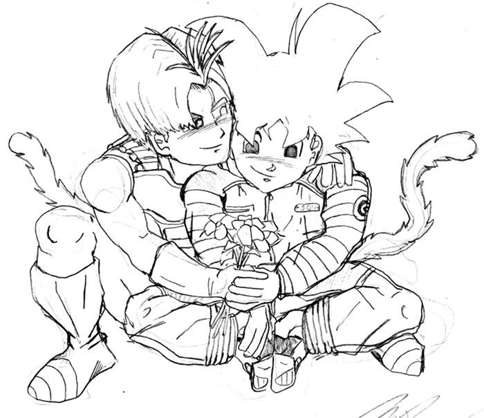 Kid Goten and Trunks by MiraiDan