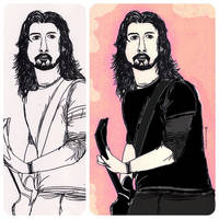 {Process} Dave Grohl by sellazel