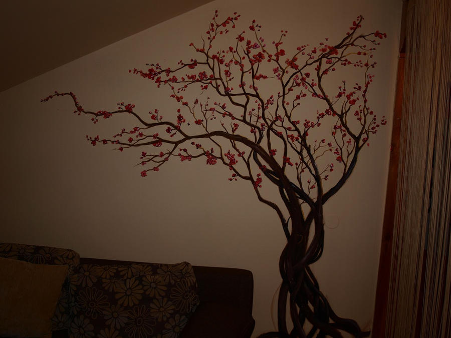 sakura baum by aru kio on deviantart. Black Bedroom Furniture Sets. Home Design Ideas