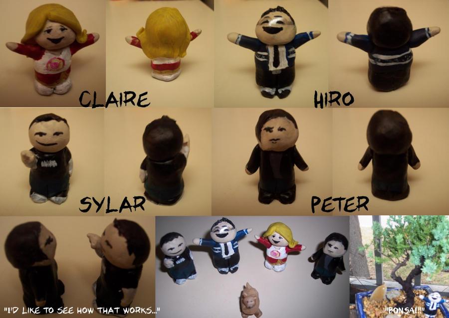 Heroes Figurines by ifihadacoconut