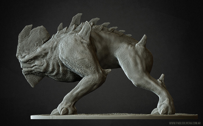 Monster sculpt 3d by pabloolivera on deviantart for Createur 3d