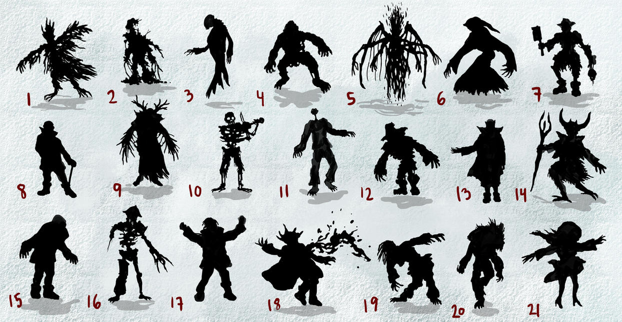 Undead Silhouettes 01 by JakobHansson