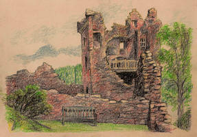 Urquhart Castle at Loch Ness, Scotland 01 by JakobHansson