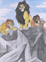 Mufasa, Ahadi and Taka by Panimated