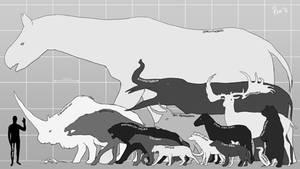 Megafauna Sizes