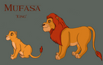 The Lions of Ndona - Mufasa by miniaturedreams