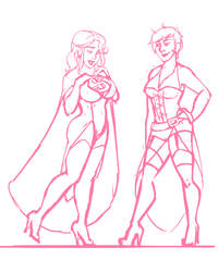 Super Woman New Outfit WIP by FaeAmara
