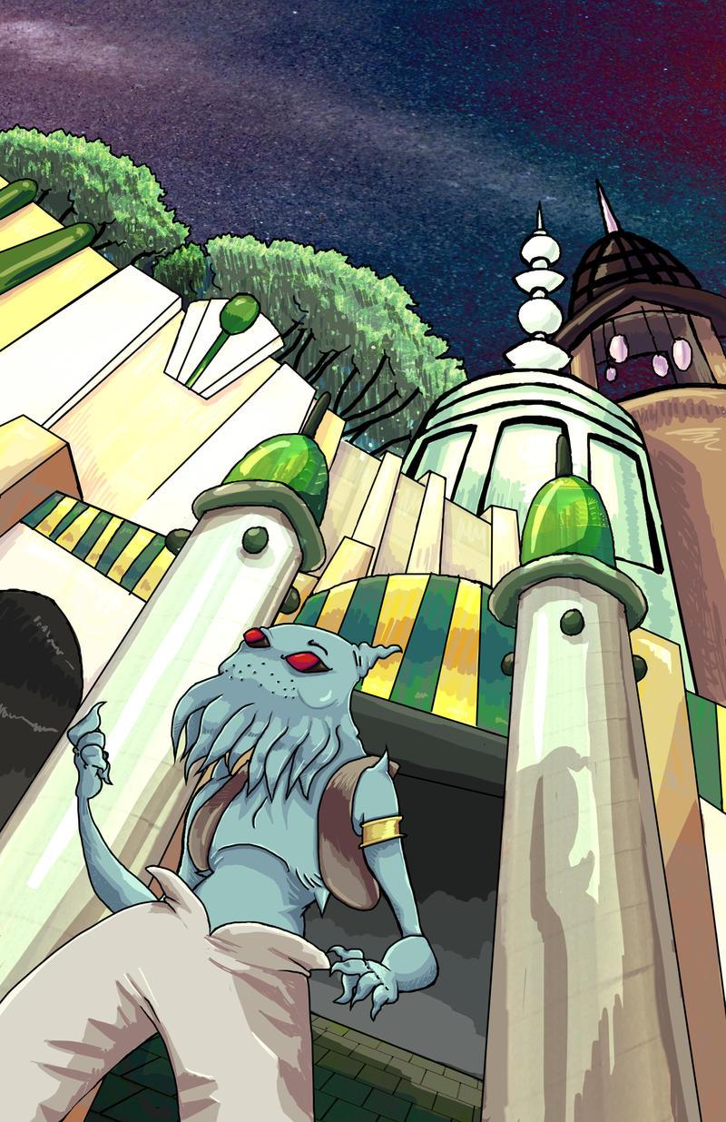 Octo-man space by TheInsaneDingo