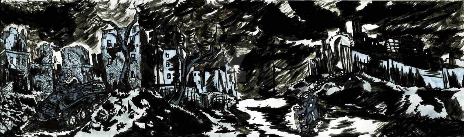 INK war scenery by TheInsaneDingo