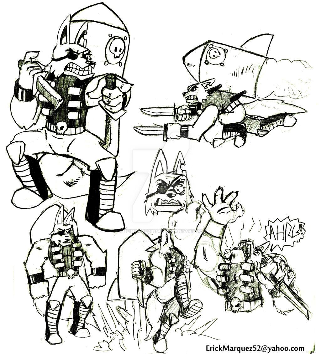 Rocket Wolf by TheInsaneDingo