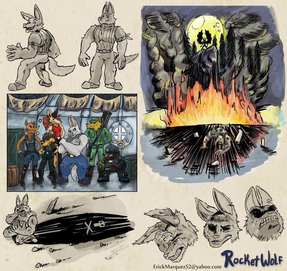 RocketWolf Past by TheInsaneDingo