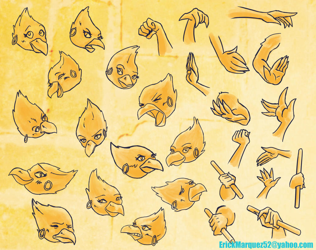 Hands And Heads Sheet by TheInsaneDingo