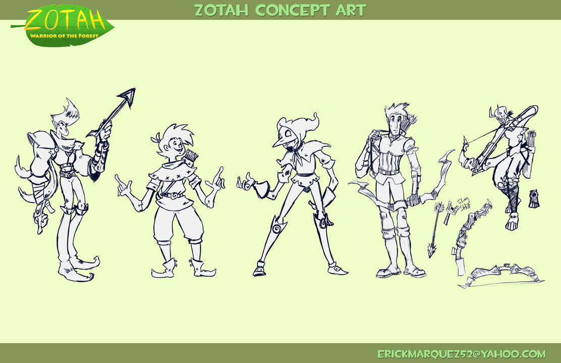Zotah character concepts by TheInsaneDingo