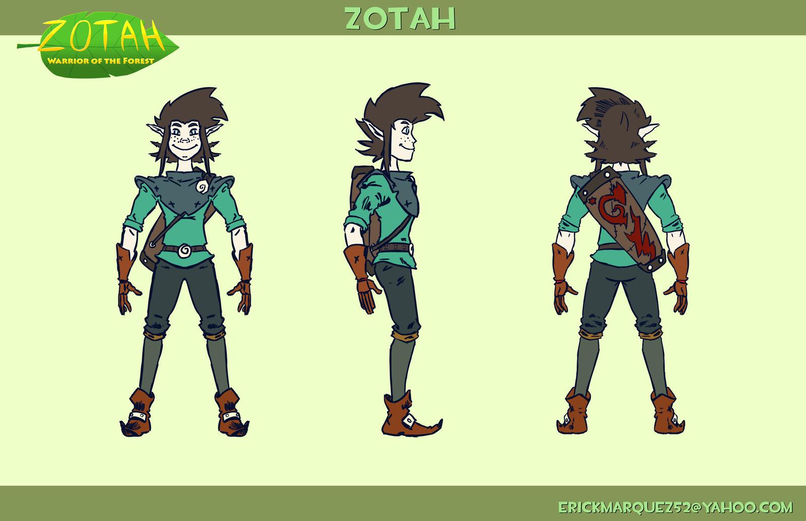 Zotah Character Turnaround by TheInsaneDingo