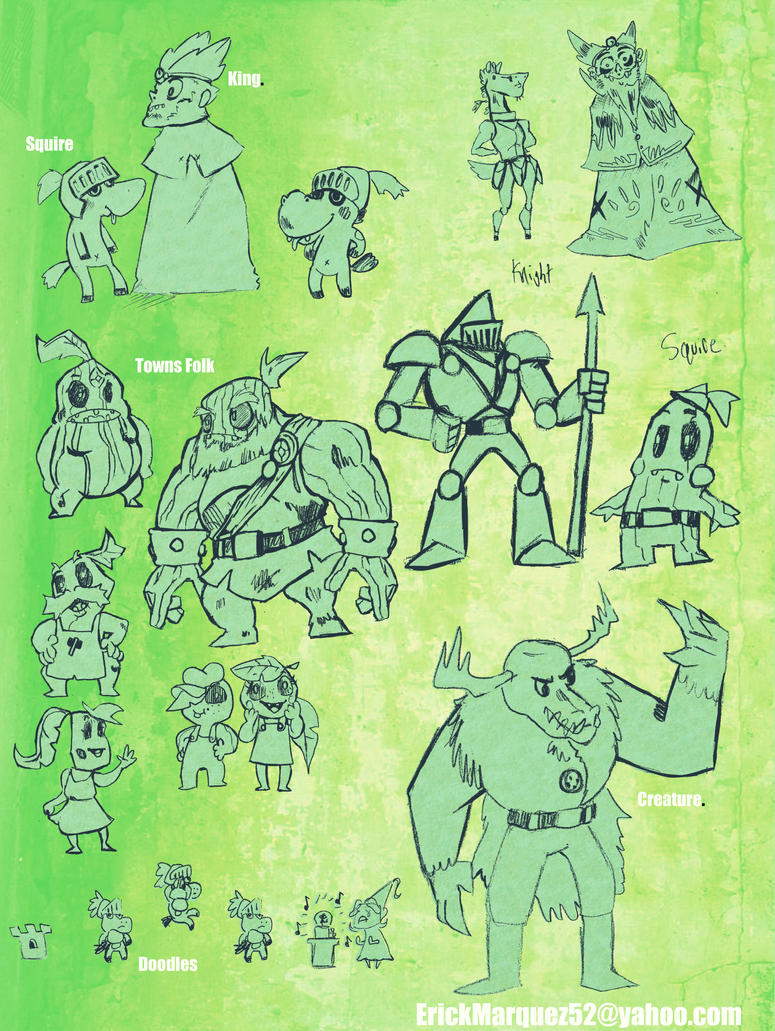 Characiter Concepts by TheInsaneDingo