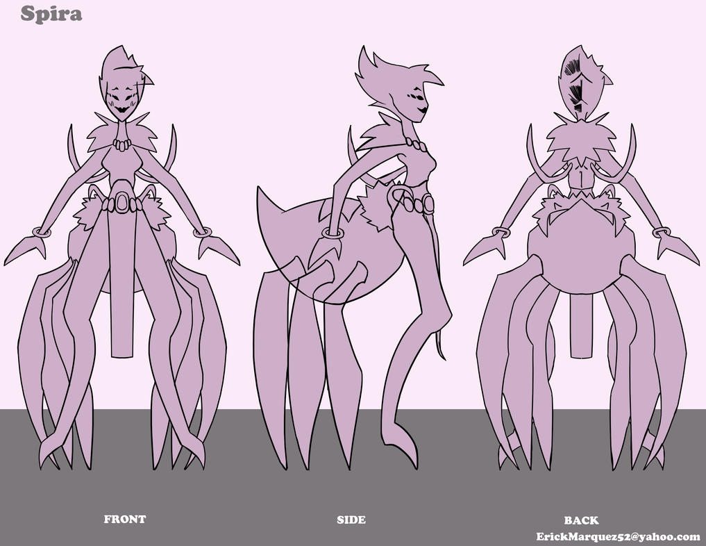 Character Turnaround Spider Girl by TheInsaneDingo