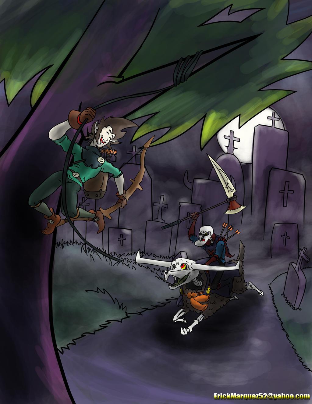 Negative Interaction Skull Jax and Zotah by TheInsaneDingo