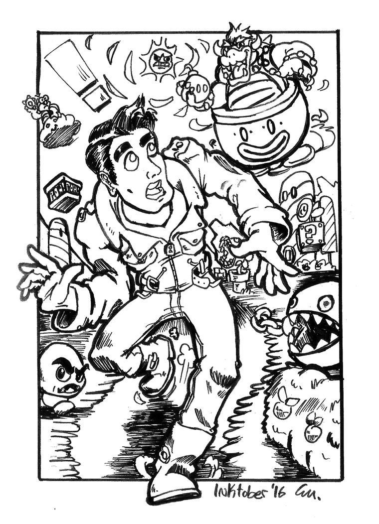 Greaser in Mario Land! by TheInsaneDingo