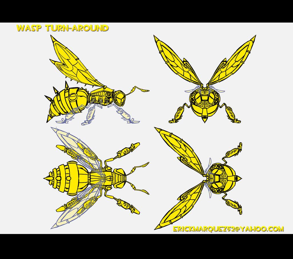 Wasp turn around by TheInsaneDingo