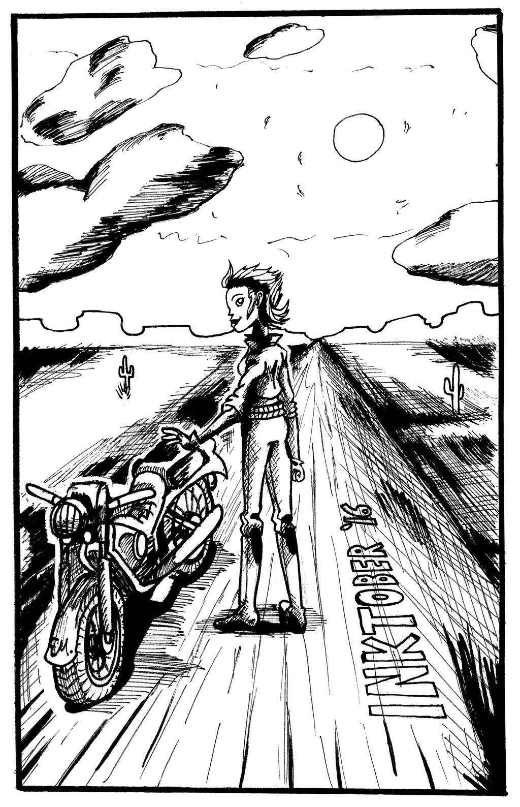 Biker Girl by TheInsaneDingo