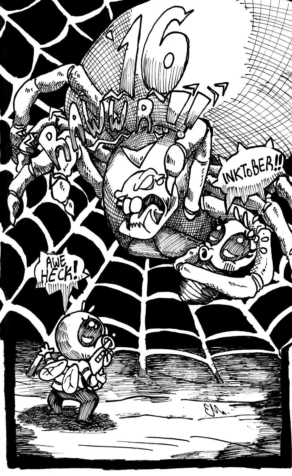 Fly vs the Giant Spider! by TheInsaneDingo