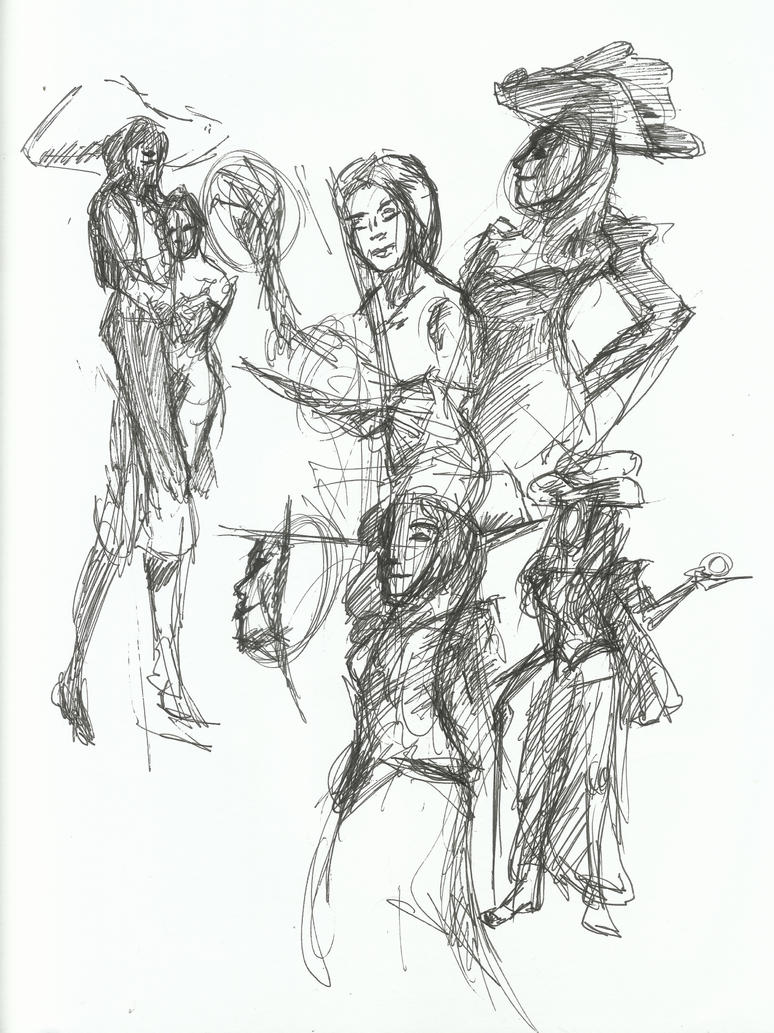 Drawing Party Sketches 5 by TheInsaneDingo