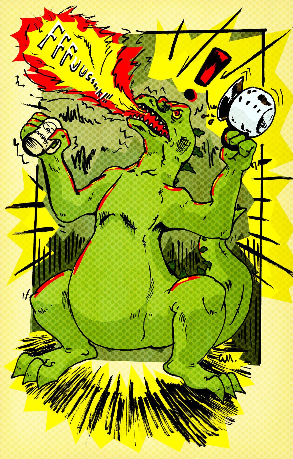 Coffee Godzilla by TheInsaneDingo