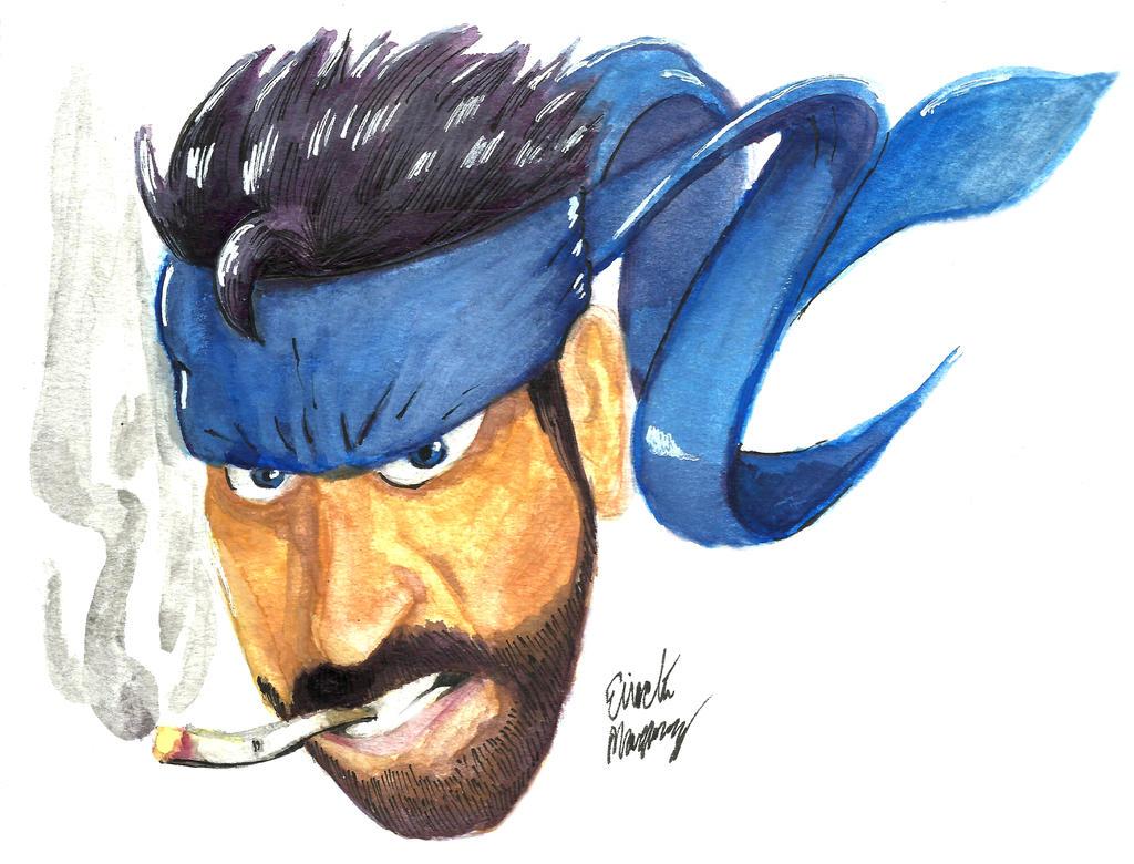 Snake n bake watercolor by TheInsaneDingo
