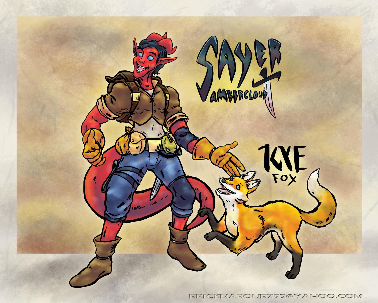 Sayer Ambercloud and Kye Fox by TheInsaneDingo