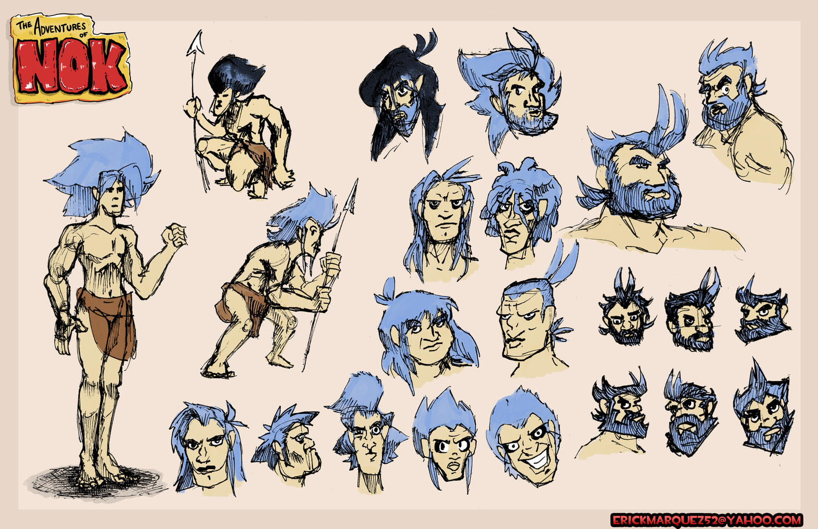 Nok heads and concepts by TheInsaneDingo