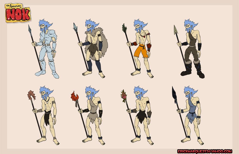Nok costumes Variants by TheInsaneDingo