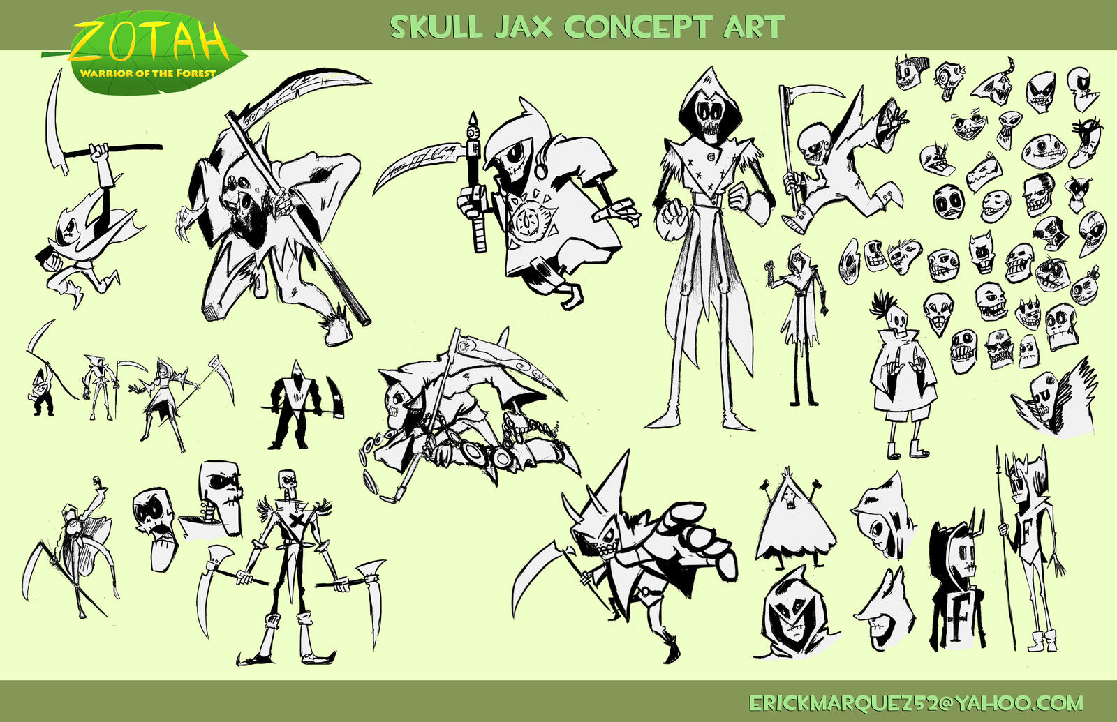 Skull Jax Concept Art by TheInsaneDingo