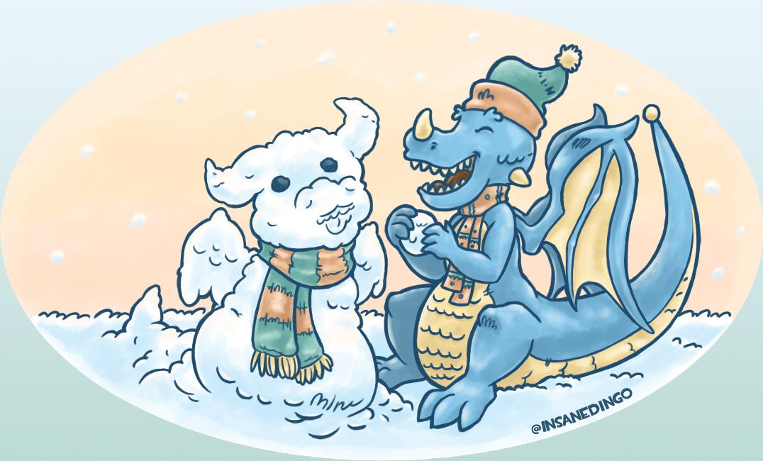 Snow Dragon by TheInsaneDingo