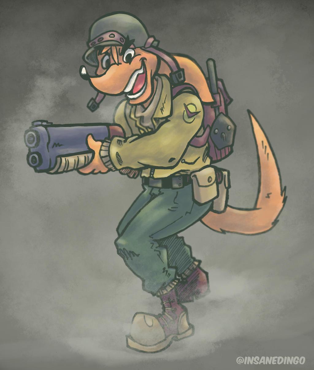 Soldier Dingo by TheInsaneDingo
