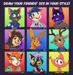 Draw your friends oc!