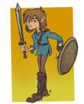 Boy with Sword Doodle