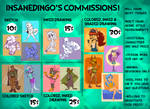 Dingo's Commission Sheet